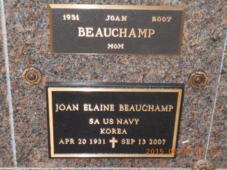 BEAUCHAMP, JOAN ELAINE - Marquette County, Michigan | JOAN ELAINE BEAUCHAMP - Michigan Gravestone Photos