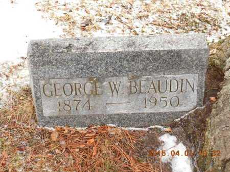 BEAUDIN, GEORGE W. - Marquette County, Michigan   GEORGE W. BEAUDIN - Michigan Gravestone Photos
