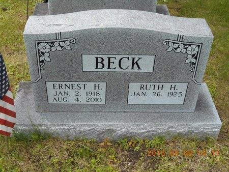 BECK, RUTH H. - Marquette County, Michigan   RUTH H. BECK - Michigan Gravestone Photos
