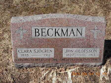 BECKMAN, JON OLOFSSON - Marquette County, Michigan | JON OLOFSSON BECKMAN - Michigan Gravestone Photos