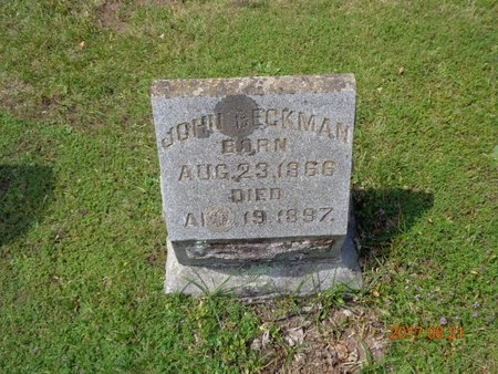 BECKMAN, JOHN - Marquette County, Michigan | JOHN BECKMAN - Michigan Gravestone Photos