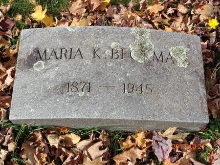 BECKMAN, MARIA K. - Marquette County, Michigan | MARIA K. BECKMAN - Michigan Gravestone Photos