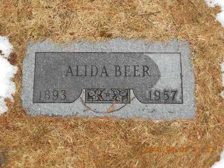 BEER, ALIDA - Marquette County, Michigan | ALIDA BEER - Michigan Gravestone Photos
