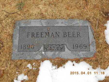 BEER, FREEMAN - Marquette County, Michigan | FREEMAN BEER - Michigan Gravestone Photos