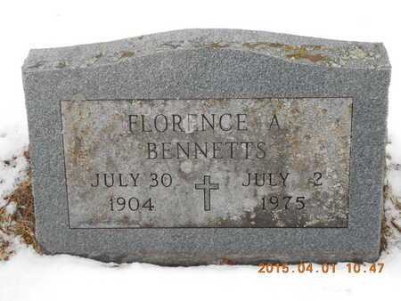 BENNETTS, FLORENCE A. - Marquette County, Michigan   FLORENCE A. BENNETTS - Michigan Gravestone Photos