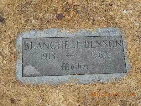 BENSON, BLANCHE J. - Marquette County, Michigan   BLANCHE J. BENSON - Michigan Gravestone Photos