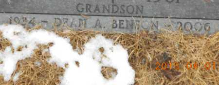 BENSON, DEAN A. - Marquette County, Michigan | DEAN A. BENSON - Michigan Gravestone Photos