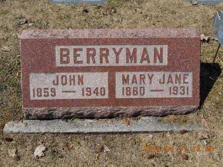 BERRYMAN, MARY JANE - Marquette County, Michigan | MARY JANE BERRYMAN - Michigan Gravestone Photos