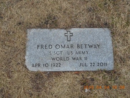 BETWAY, FRED OMAR - Marquette County, Michigan | FRED OMAR BETWAY - Michigan Gravestone Photos
