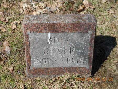 BEYER, ANNA - Marquette County, Michigan | ANNA BEYER - Michigan Gravestone Photos