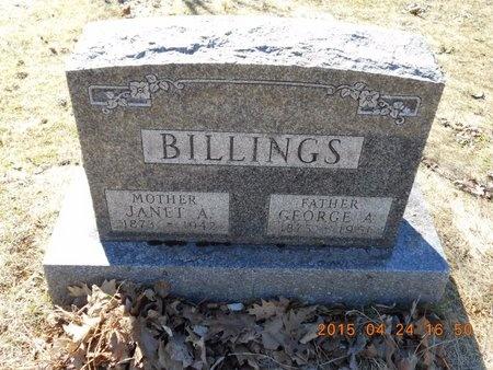 BILLINGS, GEORGE A. - Marquette County, Michigan | GEORGE A. BILLINGS - Michigan Gravestone Photos