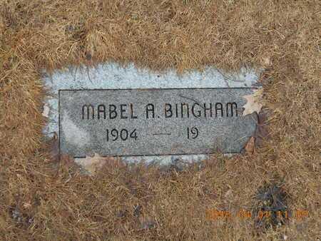 BINGHAM, MABEL A. - Marquette County, Michigan   MABEL A. BINGHAM - Michigan Gravestone Photos