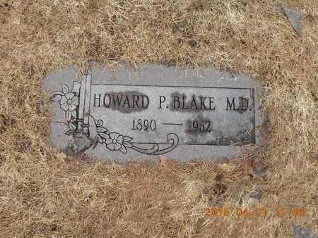 BLAKE, M.D., DR. HOWARD PAUL - Marquette County, Michigan | DR. HOWARD PAUL BLAKE, M.D. - Michigan Gravestone Photos