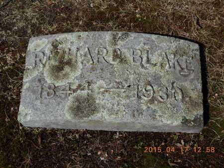 BLAKE, RICHARD - Marquette County, Michigan   RICHARD BLAKE - Michigan Gravestone Photos