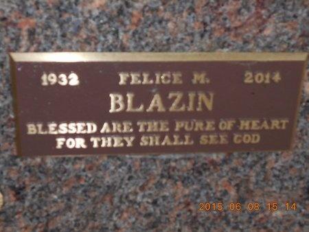 BLAZIN, FELICE M. - Marquette County, Michigan   FELICE M. BLAZIN - Michigan Gravestone Photos