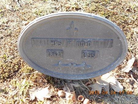 BOND, MRS. P. - Marquette County, Michigan | MRS. P. BOND - Michigan Gravestone Photos
