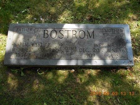 BOSTROM, REV. ESKIL E. - Marquette County, Michigan   REV. ESKIL E. BOSTROM - Michigan Gravestone Photos
