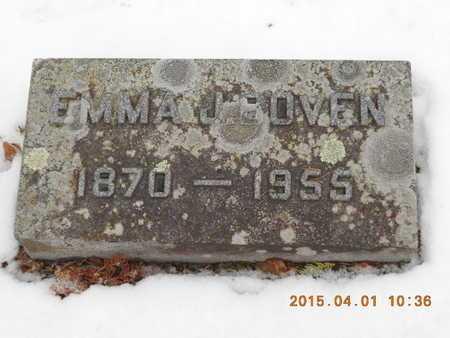 BOVEN, EMMA J. - Marquette County, Michigan | EMMA J. BOVEN - Michigan Gravestone Photos