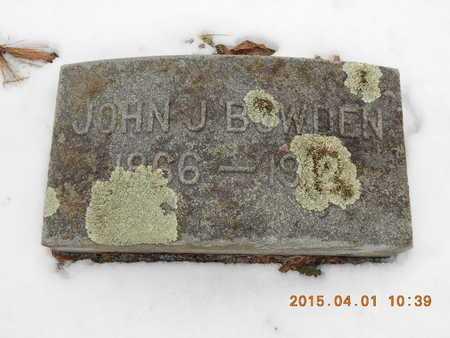 BOWDEN, JOHN J. - Marquette County, Michigan | JOHN J. BOWDEN - Michigan Gravestone Photos