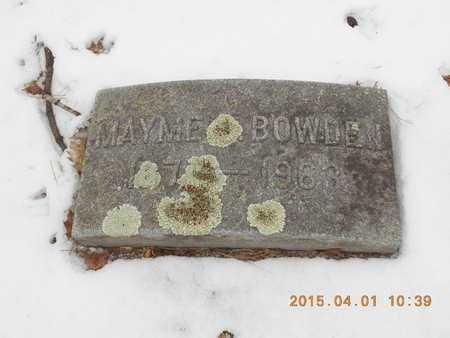 BOWDEN, MAYME A. - Marquette County, Michigan | MAYME A. BOWDEN - Michigan Gravestone Photos