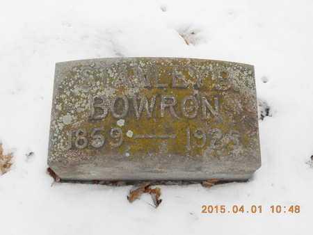 BOWRON, STANLEY B. - Marquette County, Michigan | STANLEY B. BOWRON - Michigan Gravestone Photos