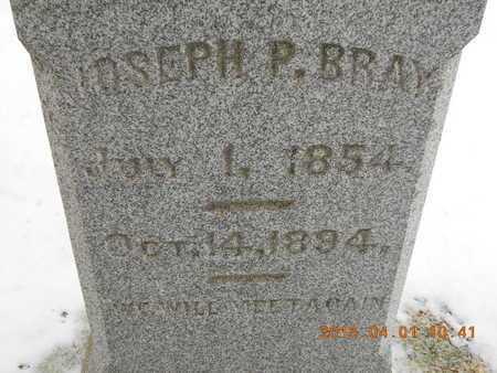 BRAY, JOSEPH P. - Marquette County, Michigan | JOSEPH P. BRAY - Michigan Gravestone Photos
