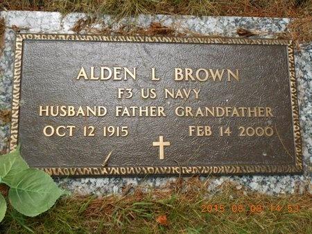 BROWN, ALDEN L. - Marquette County, Michigan | ALDEN L. BROWN - Michigan Gravestone Photos