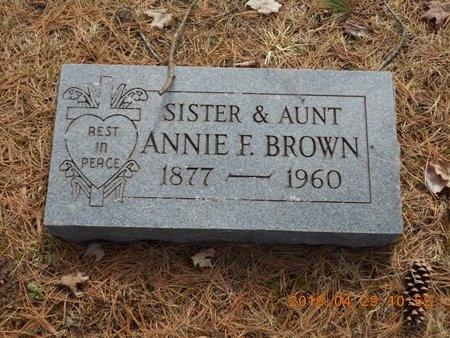 BROWN, ANNIE F. - Marquette County, Michigan | ANNIE F. BROWN - Michigan Gravestone Photos