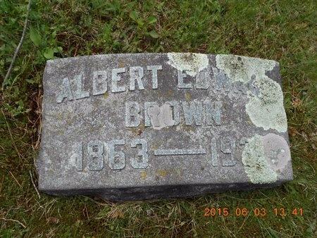 BROWN, ALBERT EDWARD - Marquette County, Michigan | ALBERT EDWARD BROWN - Michigan Gravestone Photos