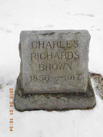BROWN, CHARLES RICHARDS - Marquette County, Michigan | CHARLES RICHARDS BROWN - Michigan Gravestone Photos