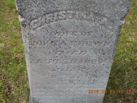 BROWN, CHRISTINA A. - Marquette County, Michigan | CHRISTINA A. BROWN - Michigan Gravestone Photos