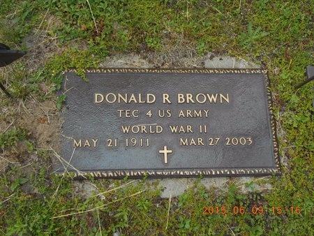 BROWN, DONALD R. - Marquette County, Michigan | DONALD R. BROWN - Michigan Gravestone Photos