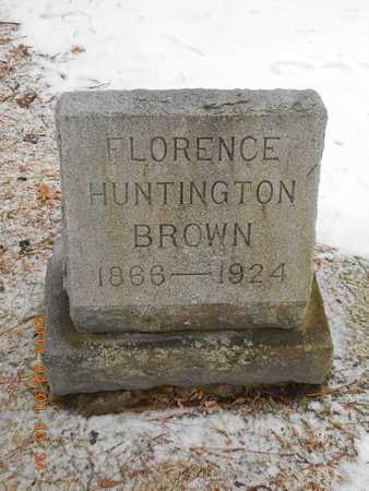 BROWN, FLORENCE - Marquette County, Michigan | FLORENCE BROWN - Michigan Gravestone Photos