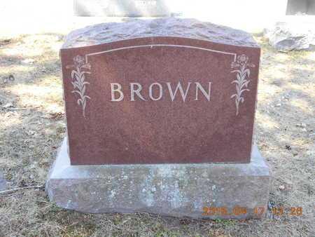 BROWN, FAMILY - Marquette County, Michigan   FAMILY BROWN - Michigan Gravestone Photos