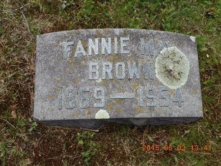 BROWN, FANNIE MAY - Marquette County, Michigan   FANNIE MAY BROWN - Michigan Gravestone Photos