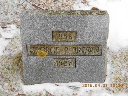 BROWN, GEORGE B. - Marquette County, Michigan | GEORGE B. BROWN - Michigan Gravestone Photos