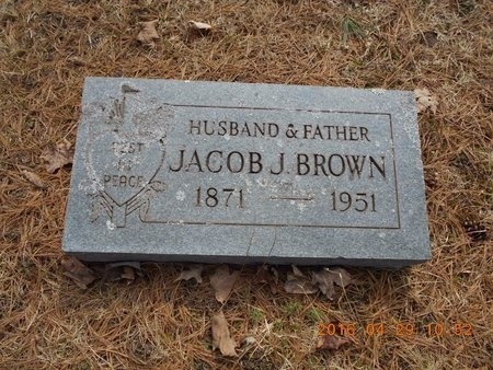 BROWN, JACOB J. - Marquette County, Michigan | JACOB J. BROWN - Michigan Gravestone Photos