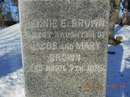 BROWN, JENNIE E. - Marquette County, Michigan | JENNIE E. BROWN - Michigan Gravestone Photos