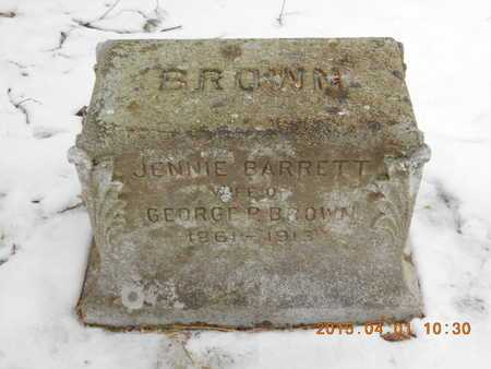 BROWN, JENNIE EVA - Marquette County, Michigan | JENNIE EVA BROWN - Michigan Gravestone Photos