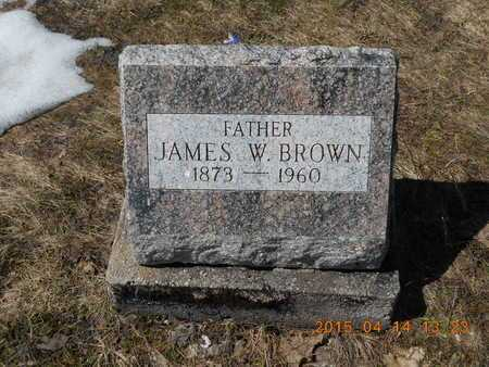 BROWN, JAMES W. - Marquette County, Michigan | JAMES W. BROWN - Michigan Gravestone Photos