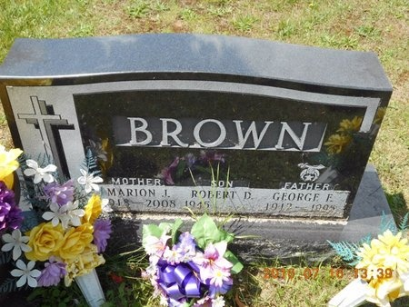 BROWN, MARION J. - Marquette County, Michigan | MARION J. BROWN - Michigan Gravestone Photos