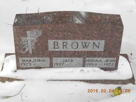 BROWN, JACK - Marquette County, Michigan | JACK BROWN - Michigan Gravestone Photos