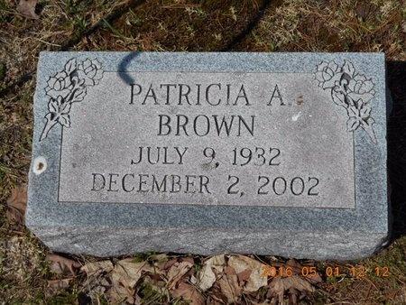 BROWN, PATRICIA A. - Marquette County, Michigan | PATRICIA A. BROWN - Michigan Gravestone Photos