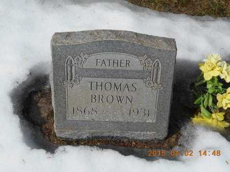 BROWN, THOMAS - Marquette County, Michigan | THOMAS BROWN - Michigan Gravestone Photos