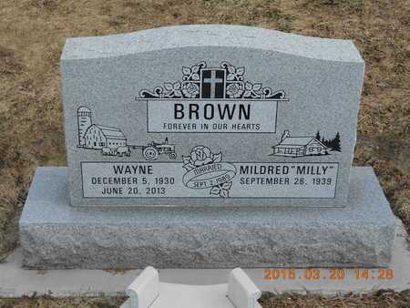 "BROWN, MILDRED ""MILLY"" - Marquette County, Michigan 
