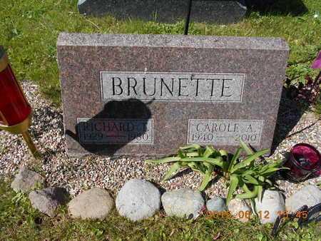 BRUNETTE, RICHARD T. - Marquette County, Michigan | RICHARD T. BRUNETTE - Michigan Gravestone Photos