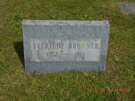 BRUNNER, ELFRIED E. - Marquette County, Michigan   ELFRIED E. BRUNNER - Michigan Gravestone Photos