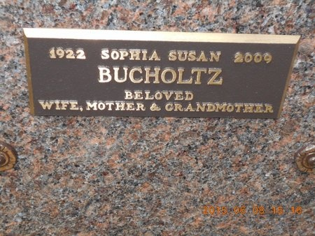 BUCHOLTZ, SOPHIA SUSAN - Marquette County, Michigan   SOPHIA SUSAN BUCHOLTZ - Michigan Gravestone Photos