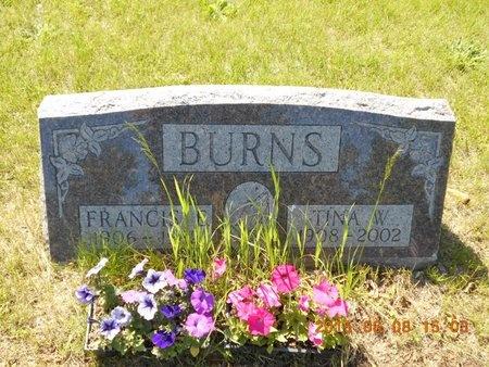 BURNS, FRANCIS E. - Marquette County, Michigan   FRANCIS E. BURNS - Michigan Gravestone Photos