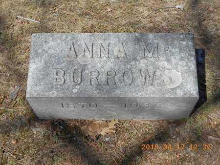 BURROWS, ANNA M. - Marquette County, Michigan | ANNA M. BURROWS - Michigan Gravestone Photos